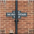 SK6857 : Nameplate, The Iris Cottages, Kirklington by Alan Murray-Rust