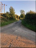 SJ9570 : Junction of Lanes East of Lees House Farm by Philip Cornwall
