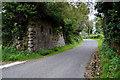 H4468 : Road under former railway bridge, Loughmuck (Alcorn) by Kenneth  Allen