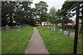 NZ3821 : Graveyard at St Cuthbert's Church, Redmarshall by Ian S