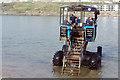 SX6443 : Sea tractor departing Burgh Island by Stephen McKay
