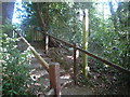 SO5772 : Steps leading to St. Mary's Church (Whitton) by Fabian Musto