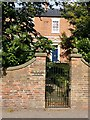 SK6456 : Wall and gate at Burgess House, Farnsfield by Alan Murray-Rust