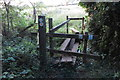 SP4233 : Ramshackle footbridge on the path to Milcombe by Philip Jeffrey
