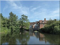 TM0733 : Constable, that's a Gainsborough: Flatford Mill by Basher Eyre