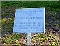 NT2540 : Golden Jubilee sign, Victoria Park Peebles by Jim Barton