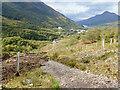 NN1961 : Recent landslip across access track for the new hydroelectric scheme by Mick Garratt