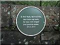 SE0514 : Poem plaque on Merry Dale Bridge, Slaithwaite by Humphrey Bolton