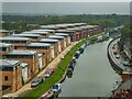 SK9671 : Fossdyke Navigation from Hayes Wharf, Lincoln by Oliver Mills