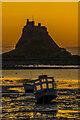 NU1341 : Lindisfarne Castle at dawn by Ian Capper