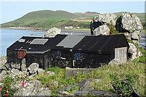 NX1289 : Fishermen's Huts by Anne Burgess