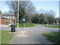 SP0166 : National Cycle Route 5 meets Springvale Road, Webheath, Redditch  by Robin Stott
