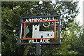 TG2504 : Arminghall village sign by Adrian S Pye