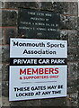 SO5012 : Plaque dated 1961, Monmouth by Jaggery