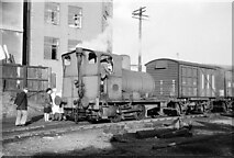 SJ3890 : Fireless loco at Crawford's biscuit factory – 1965  - 3 by Alan Murray-Rust