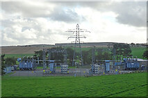 NJ9555 : Electricity Sub Station by Anne Burgess