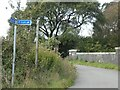 SY6782 : Bridge over railway south of Upwey and sign for NCN26 by David Smith