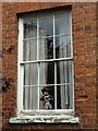 SO5174 : Sash window with occupant by Philip Halling