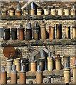 NT5015 : Chimney pots at Hawick by Walter Baxter