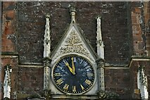 ST0207 : Cullompton, St. Andrew's Church: The clock on the west face of the tower by Michael Garlick