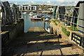 SY4690 : Slipway, Bridport harbour by Derek Harper