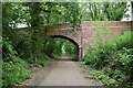 SZ5781 : Bridge over former railway line by N Chadwick