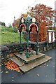 NY7843 : Memorial pump near Gillgill Bridge, Nenthead by Andrew Curtis