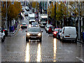 H4572 : Wet on the cobbles, Omagh by Kenneth  Allen