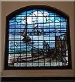 TQ8385 : Commemorative window in the Fisherman's Chapel, Leigh on Sea by Paul Jones