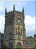 SO8276 : St Mary's Church tower in Kidderminster, Worcestershire by Roger  Kidd