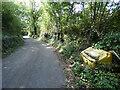 SO7769 : Grit bin along Netherton Road by Mat Fascione