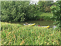 SP3065 : Canoeing upstream on the River Leam, Edmondscote, Royal Leamington Spa by Robin Stott
