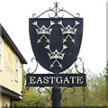 TL8564 : Bury St. Edmunds, Eastgate sign by Adrian S Pye