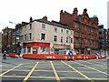 SE2933 : Roadworks on Westgate, Leeds by Stephen Craven