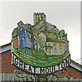 TM1690 : Great Moulton village sign by Adrian S Pye