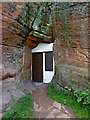 SO8383 : Rock house front door at Holy Austin, Kinver by Roger  Kidd