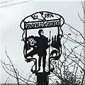 TL9159 : Bradfield St. George village sign by Adrian S Pye