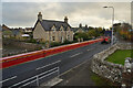 NH8299 : Extra Long Lorry on the A9 at Golspie, Sutherland by Andrew Tryon