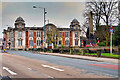 SD7807 : Radcliffe War Memorial and the Old Town Hall by David Dixon