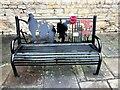 TF0206 : WW1 commemorative bench at Castle Dyke, Stamford by Richard Humphrey
