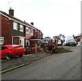 ST3090 : Small excavator, Laurel Crescent, Malpas, Newport by Jaggery