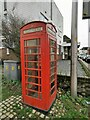 TQ9220 : K6 Telephone Box, Conduit Hill, Rye by PAUL FARMER
