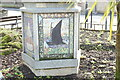 TG2830 : North Walsham Town sign (base 3) by Adrian S Pye