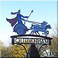 TM0288 : Quidenham village sign by Adrian S Pye