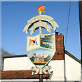 TM2281 : Needham village sign by Adrian S Pye