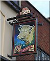 SJ7798 : Sign of the Old Bulls Head by Gerald England