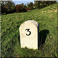 SD5188 : Milestone on the route of the Lancaster Canal by Michael Cowperthwaite