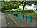 SE2337 : Exercise rods, Horsforth Hall Park by Stephen Craven