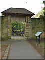SE2338 : The Japanese gate, Horsforth Hall Park by Stephen Craven