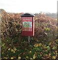 SO4007 : Dog waste bin, Usk Road, Raglan, Monmouthshire by Jaggery